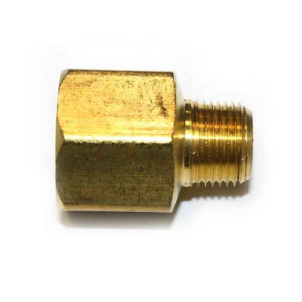 Interstate Pneumatics FB608 3/8 Inch NPT Male x 1/2 Inch NPT Female Brass Hex Bushing Adapter