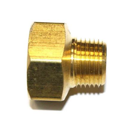 Interstate Pneumatics FB809 1/2 Inch NPT Male x 3/4 Inch NPT Female Brass Hex Bushing