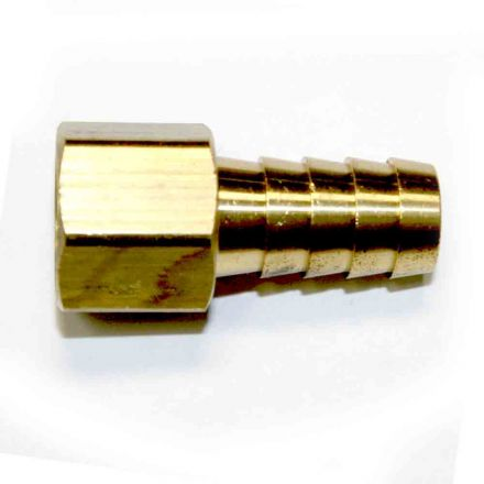 Interstate Pneumatics FF68 Brass Hose Fitting, Connector, 1/2 Inch Barb x 3/8 Inch Female NPT End