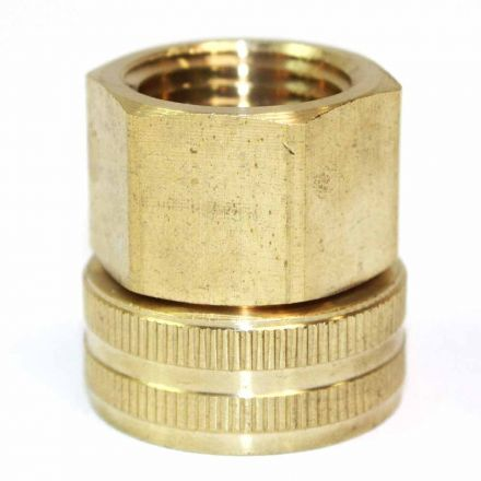 Interstate Pneumatics FGF008S 3/4 Inch GHT Female x 1/2 Inch Female NPT Water Hose Fitting - Swivel