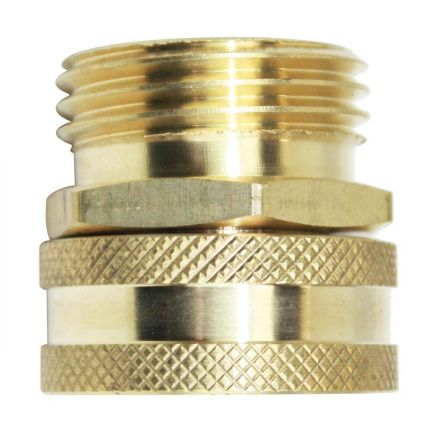 Interstate Pneumatics FGF01S 3/4 Inch GHT Male x 3/4 Inch GHT Female Water Hose Fitting - Swivel