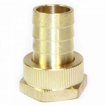 Interstate Pneumatics FGF312 3/4 Inch GHT Female x 3/4 Inch Barb Hose Fitting