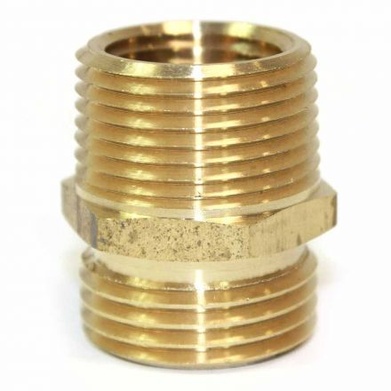 Interstate Pneumatics FGM0112 3/4 Inch GHT Male x 1/2 Inch Male NPT Hose Fitting