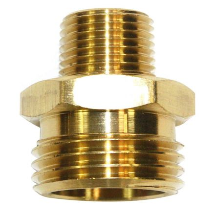 Interstate Pneumatics FGM016 3/4 Inch GHT Male x 3/8 Inch Male NPT Hose Fitting