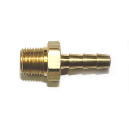 Interstate Pneumatics FM23 Brass Hose Barb Fitting, Connector, 3/16 Inch Barb X 1/8 Inch NPT Male End