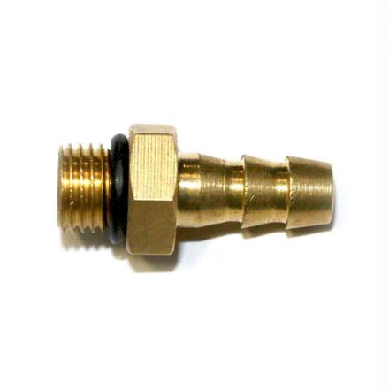 Interstate Pneumatics FMS64T 3/8 Inch - 24 UNF Male x 1/4 Inch Hose Barb Connector for Inflator Whips