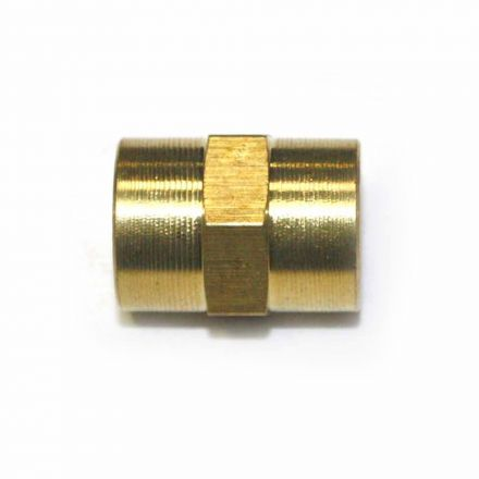 Interstate Pneumatics FPC220 Brass Female Coupling Adapter 1/8 Inch X 1/8 Inch NPT Female