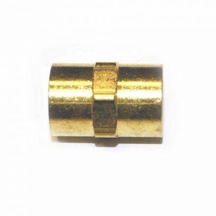 Interstate Pneumatics FPC440 Brass Female Coupling Adapter 1/4 Inch X 1/4 Inch NPT Female