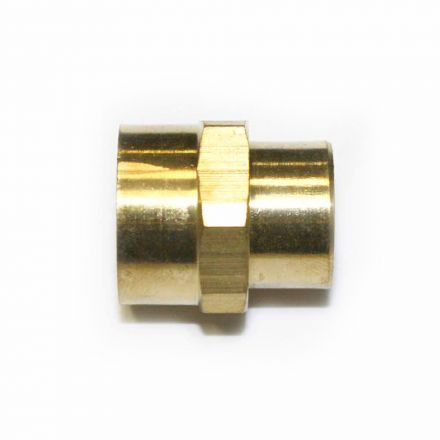 Interstate Pneumatics FPC460 Brass Female Coupling Adapter 1/4 Inch X 3/8 Inch NPT Female