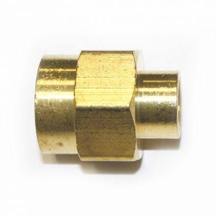 Interstate Pneumatics FPC480 Brass Female Coupling Adapter 1/4 Inch X 1/2 Inch NPT Female