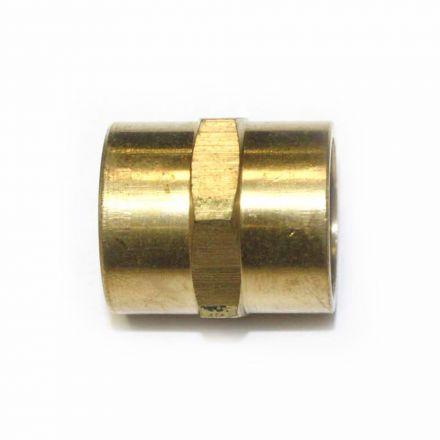 Interstate Pneumatics FPC660 Brass Female Coupling Adapter 3/8 Inch X 3/8 Inch NPT Female