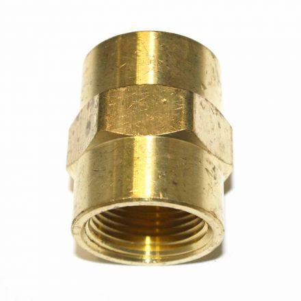 Interstate Pneumatics FPC990 Brass Female Coupling Adapter 3/4 Inch X 3/4 Inch NPT Female