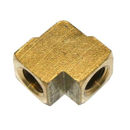 Interstate Pneumatics FPE44 Brass Elbow Fitting 1/4 Inch NPT Female