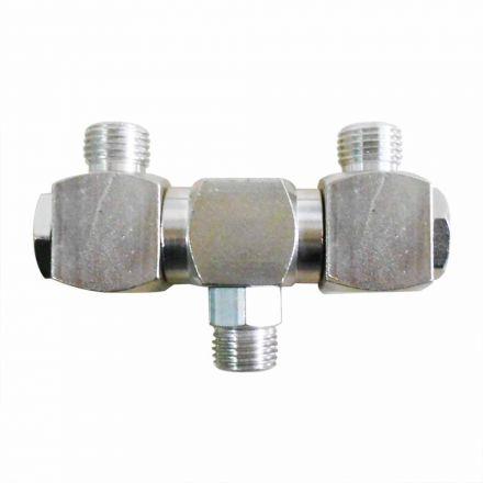"Interstate Pneumatics FS244 1/4"" Male NPT Double Swivel Fitting 360 Degree Spin"