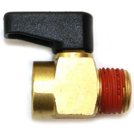 Interstate Pneumatics VP40B Assembly 1/4 Inch MPT Mini Ball Drain Valve - Brass